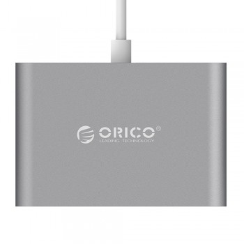 Orico RC3A USB 3.1 Gen 1 Type C Aluminium Hub: 1x Type C with PD, 3x USB Type A - Space Grey