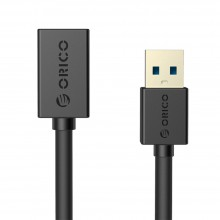 Orico CER3 USB 3.0 AM to AF 1.5m Round USB Cable - Black