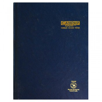 Campap CA3140 Cheque Record Book - 200pgs