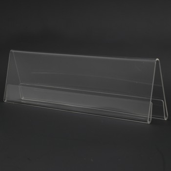 Acrylic A250 Card Stand - 250mm (W) x 70mm (H)