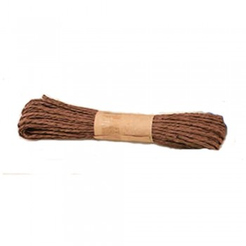 Colorful Paper Rope 25meters - Brown