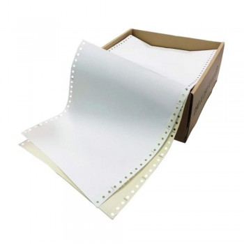"""Computer Form 9.5"""" x 11"""" 2 Ply NCR 450 Fans - White/Yellow"""
