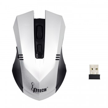 L-TECH Wireless Mouse Model 103 - SILVER - 2.4GHz Wireless, Operating Distance Up To 10m, 6-Key Optical Mouse 6D, 1600 DPI, Compact Ergonomic Design - WM-103S